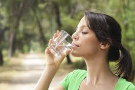 woman 2 drinking water